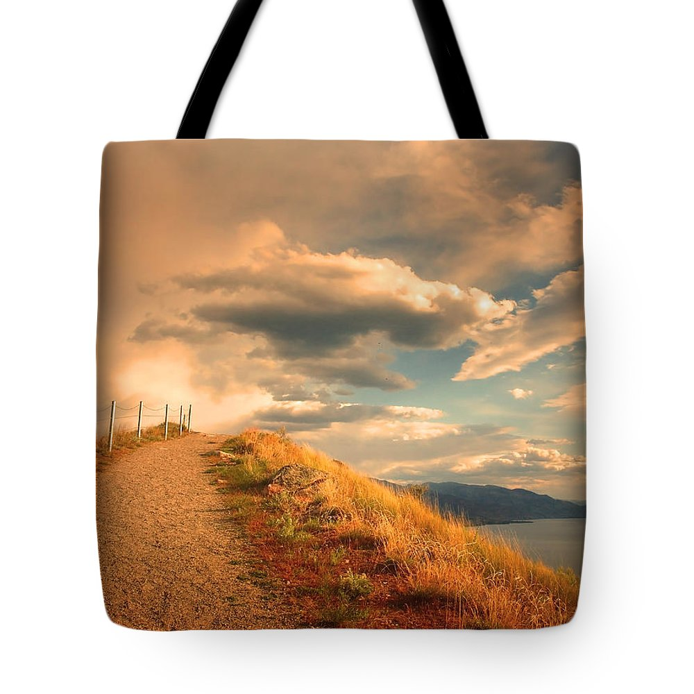 Clouds Tote Bag featuring the photograph The Cloud Path by Tara Turner