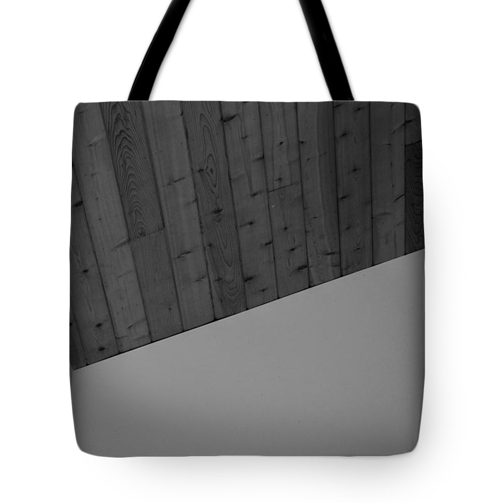 Black And White Tote Bag featuring the photograph The Corner In Black And White by Rob Hans
