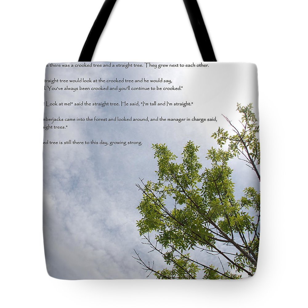 Tree Tote Bag featuring the photograph The Crooked Tree by Michael Merry