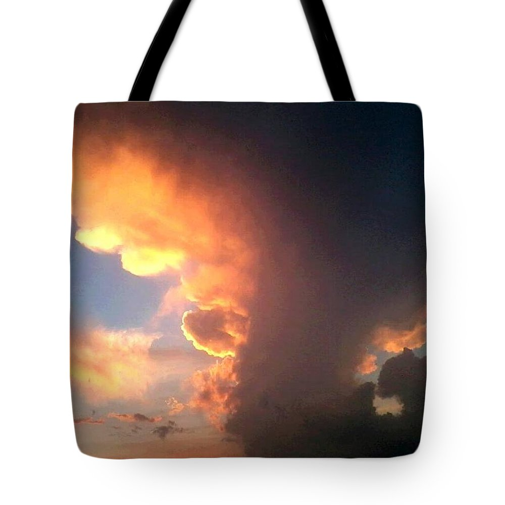 Clouds Tote Bag featuring the photograph The Dark Side by Stephen King