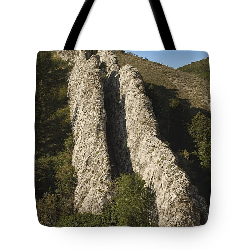 Fine Art Tote Bag featuring the photograph The Devils Slide by Donna Greene