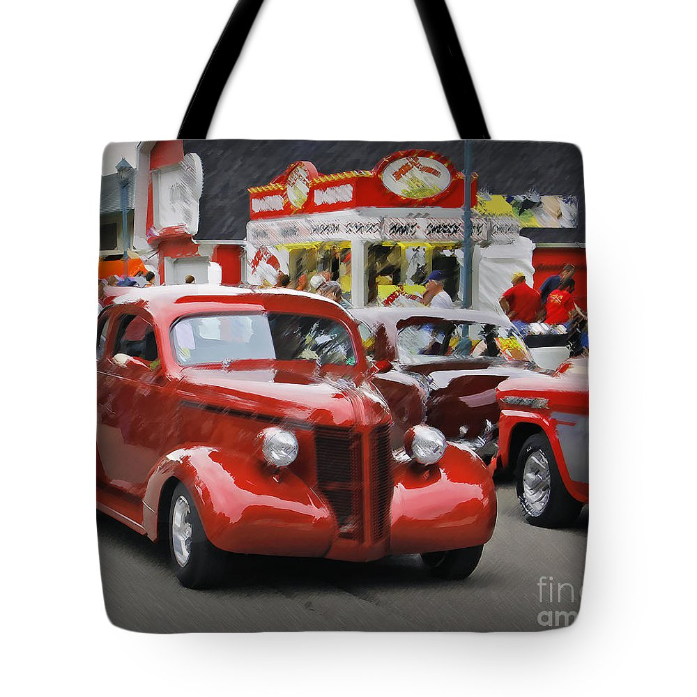 Car Tote Bag featuring the photograph The Drive by Perry Webster
