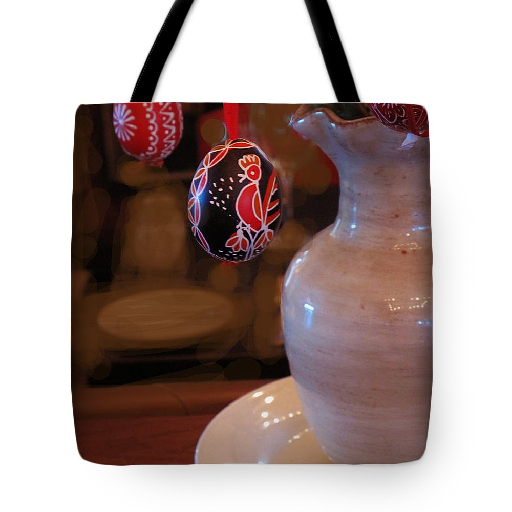 Tree Tote Bag featuring the photograph The Easter Egg Tree by Ian MacDonald