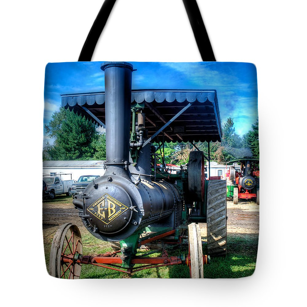 Arcadia Volunteer Fire Company Tote Bag featuring the photograph The Eb by Mark Dodd