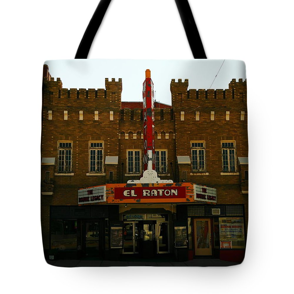 Movie Theaters Tote Bag featuring the photograph The El Raton by Jeff Swan
