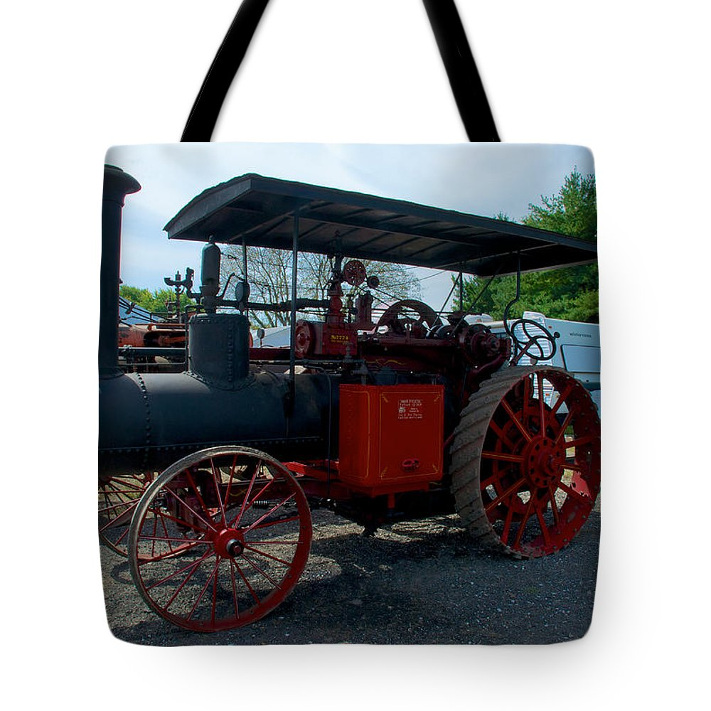 Arcadia Volunteer Fire Company Tote Bag featuring the photograph The End Of The Day For The Frick by Mark Dodd