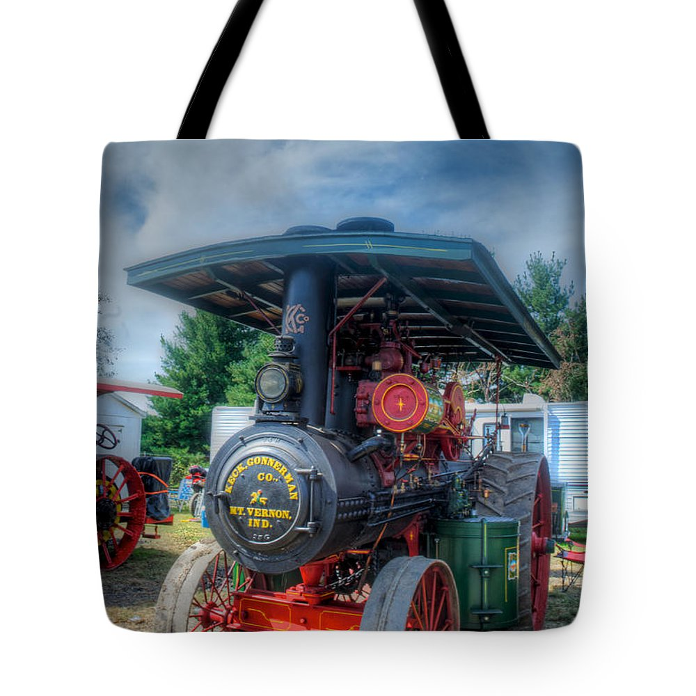Arcadia Volunteer Fire Company Tote Bag featuring the photograph The End Of The Day For The Keck by Mark Dodd