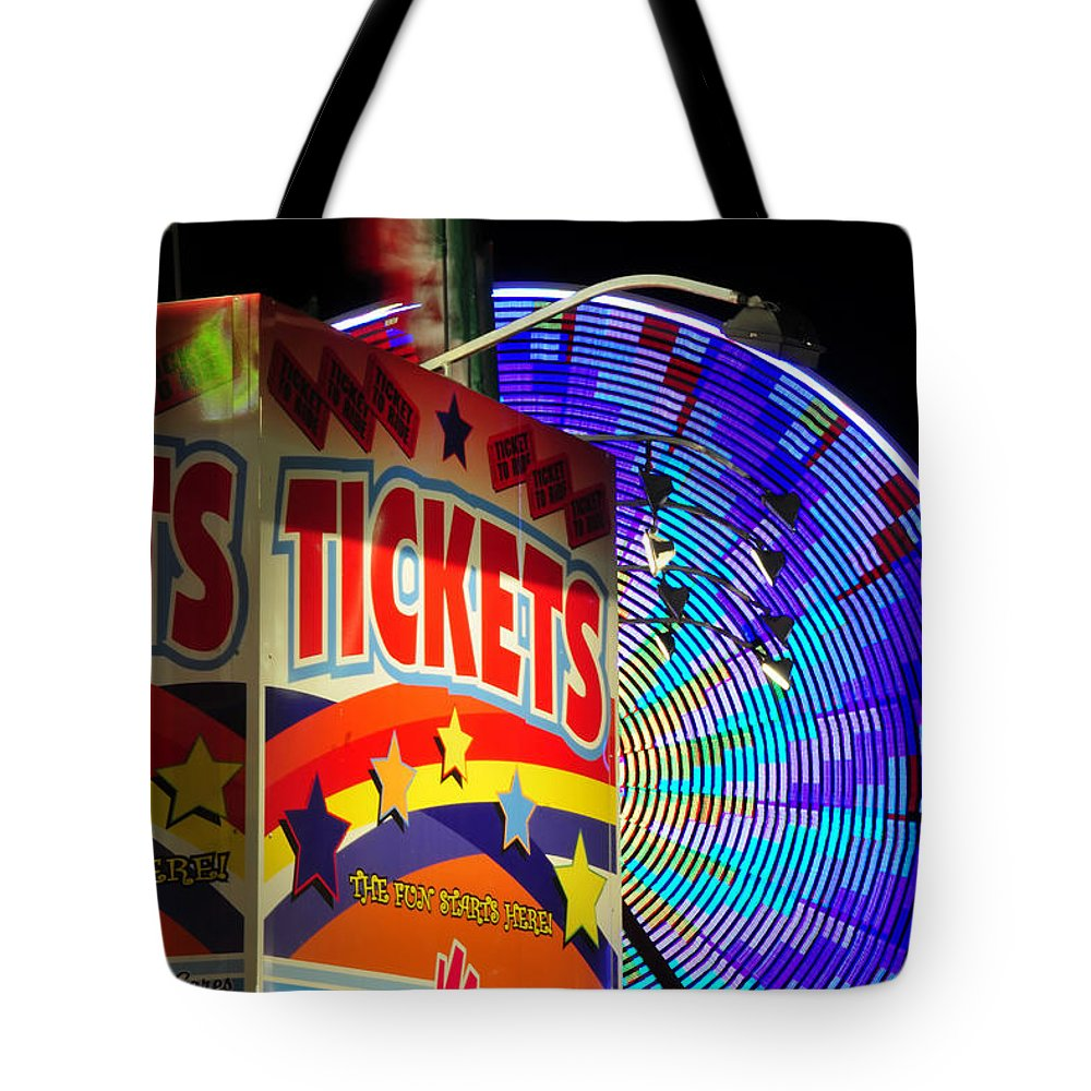 Fine Art Photography Tote Bag featuring the photograph The Fun Starts Here by David Lee Thompson