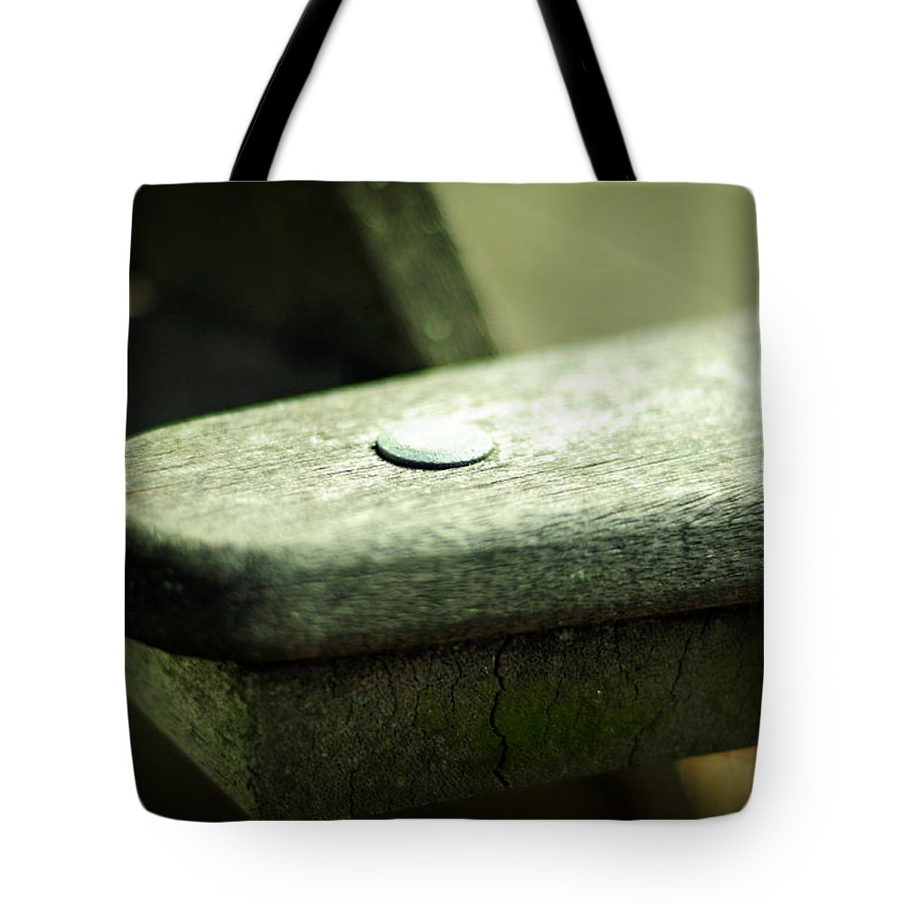 Bench Tote Bag featuring the photograph The Garden Bench by Rebecca Sherman