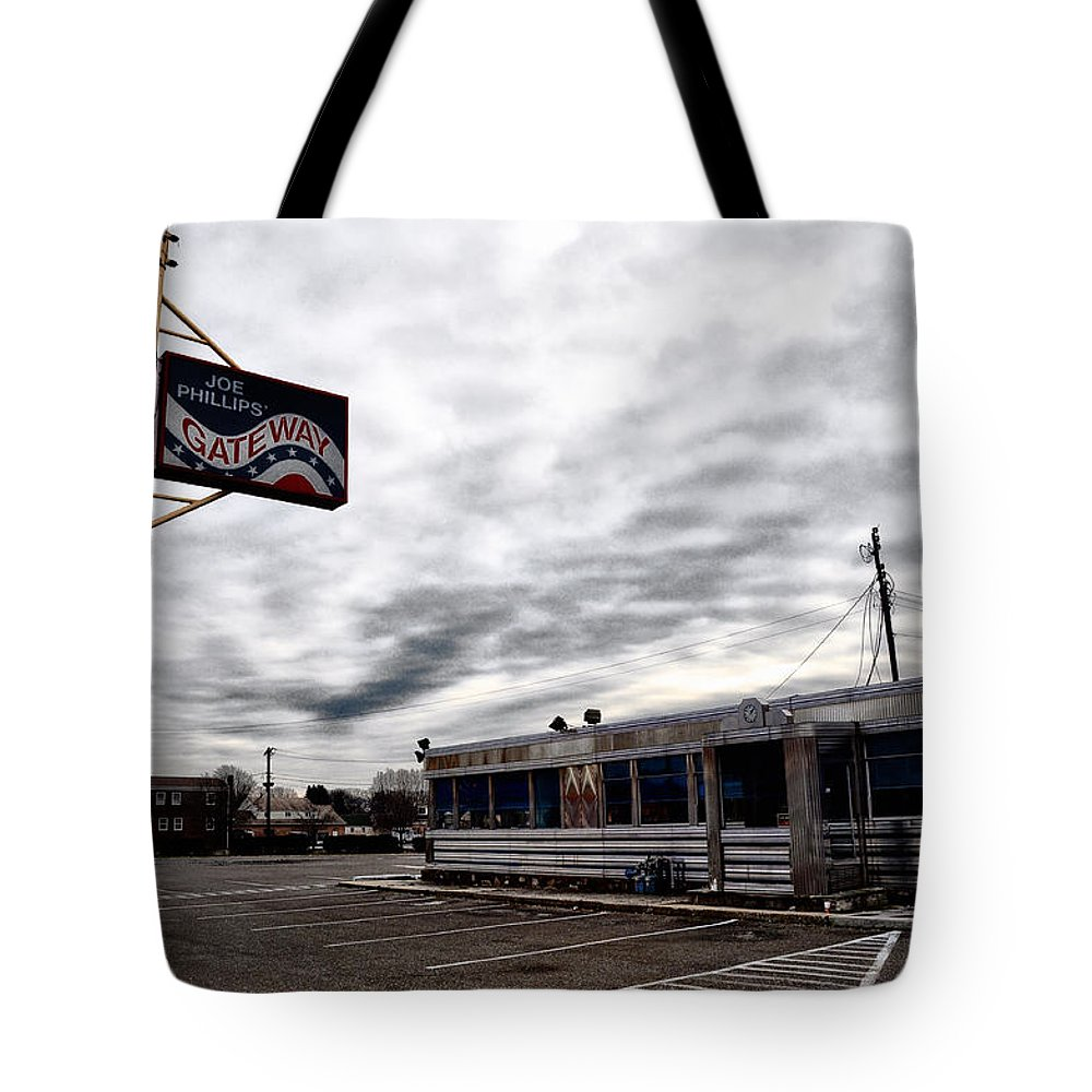 The Gateway Diner - Trooper Pa Tote Bag featuring the photograph The Gateway Diner - Trooper Pa by Bill Cannon