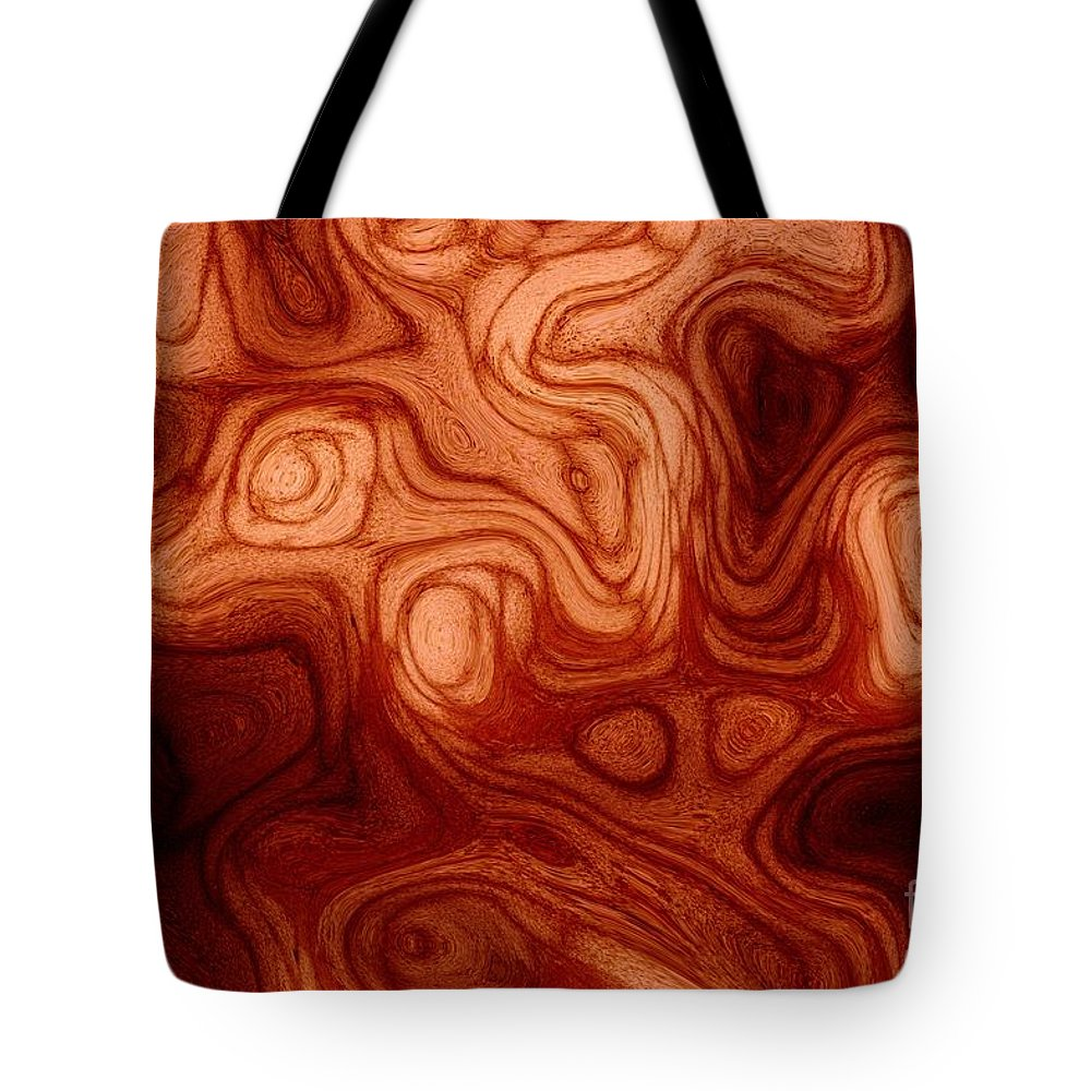Glassmaker's Tote Bag featuring the digital art The Glassmaker's Furnace by Michael Garyet