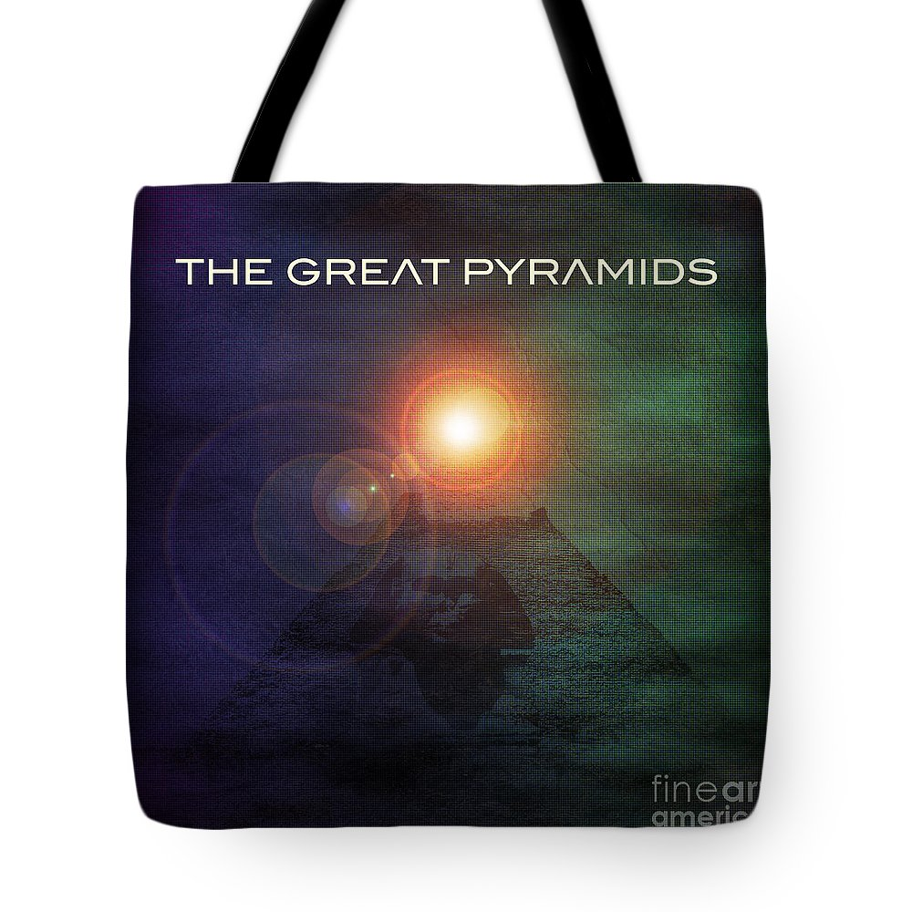 Digital Art Tote Bag featuring the digital art The Great Pyramids by Phil Perkins