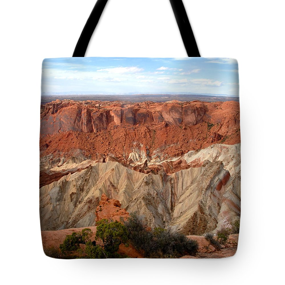 Fine Art Photography Tote Bag featuring the photograph The Great Upheaval Dome by David Lee Thompson