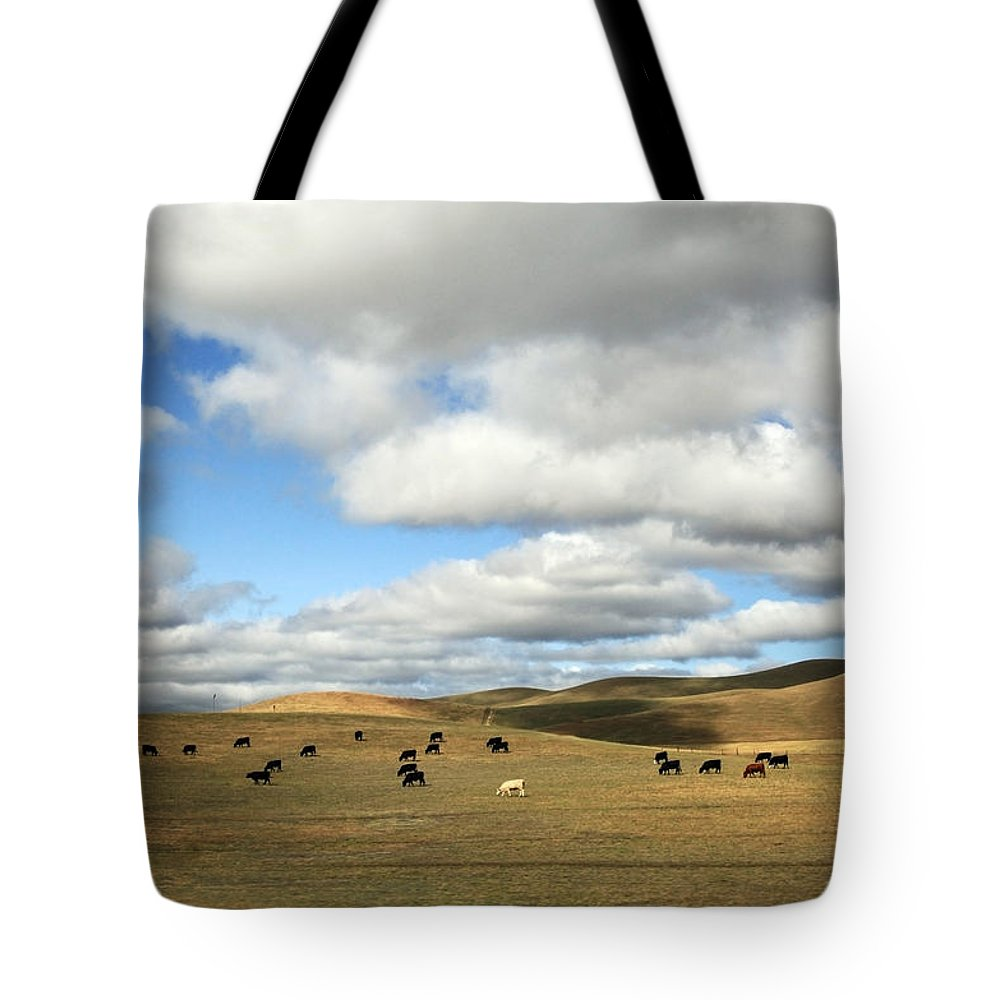 Landscape Tote Bag featuring the photograph The Great Wide Open by Laurie Search