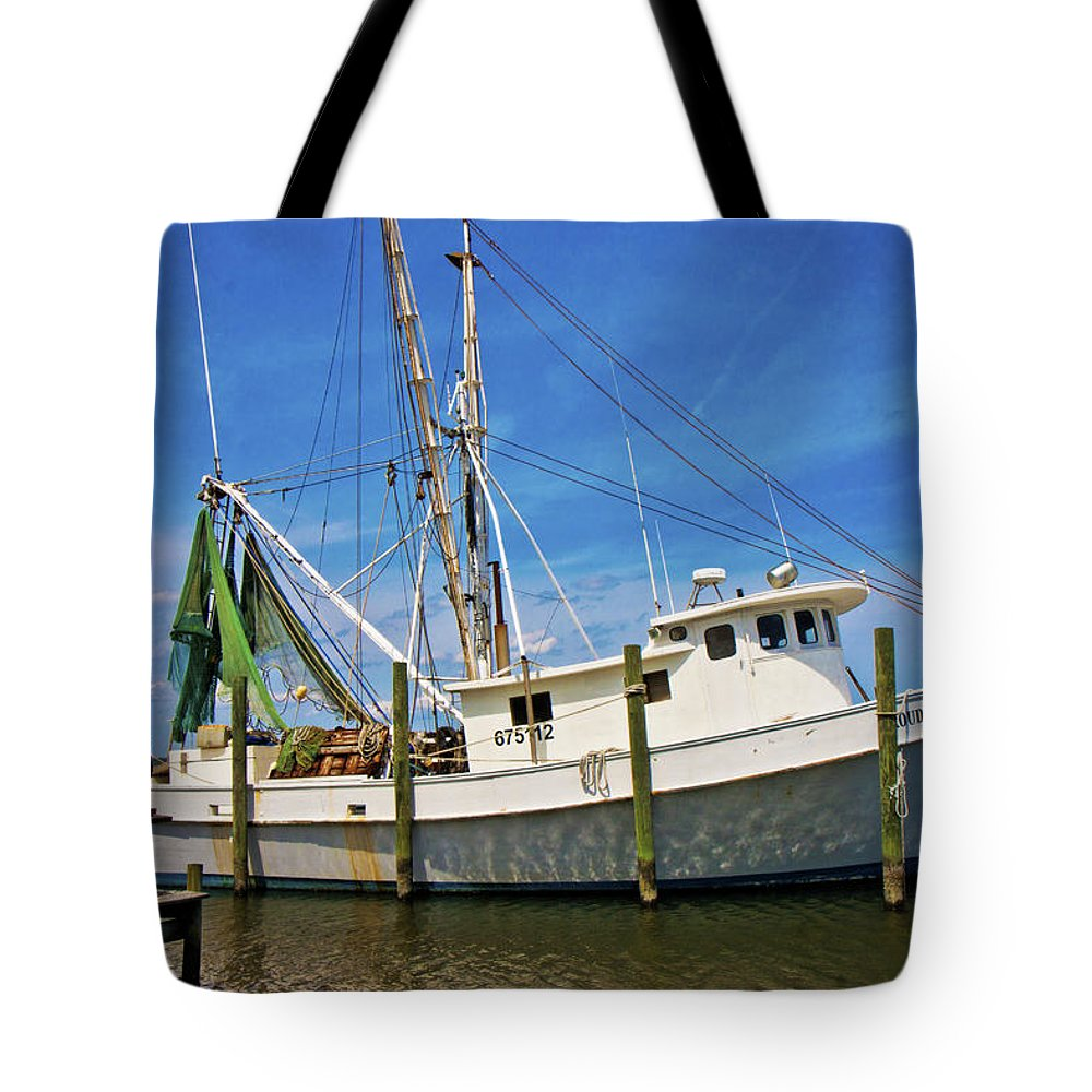 Topsail Tote Bag featuring the photograph The Harbor by Betsy Knapp