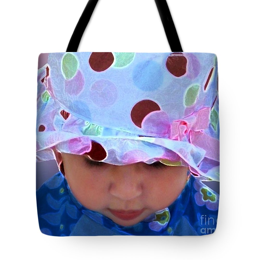 Little Girl Tote Bag featuring the digital art The Hat by Dale  Ford