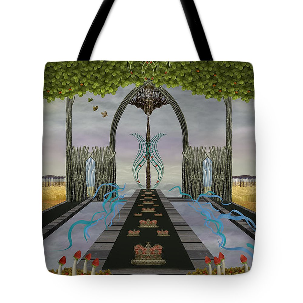 High Tote Bag featuring the digital art The High Way by Jennifer Kathleen Phillips