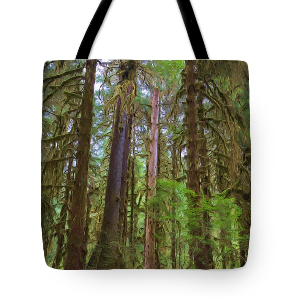 Hoh Tote Bag featuring the photograph The Hoh Rain Forest by Heidi Smith