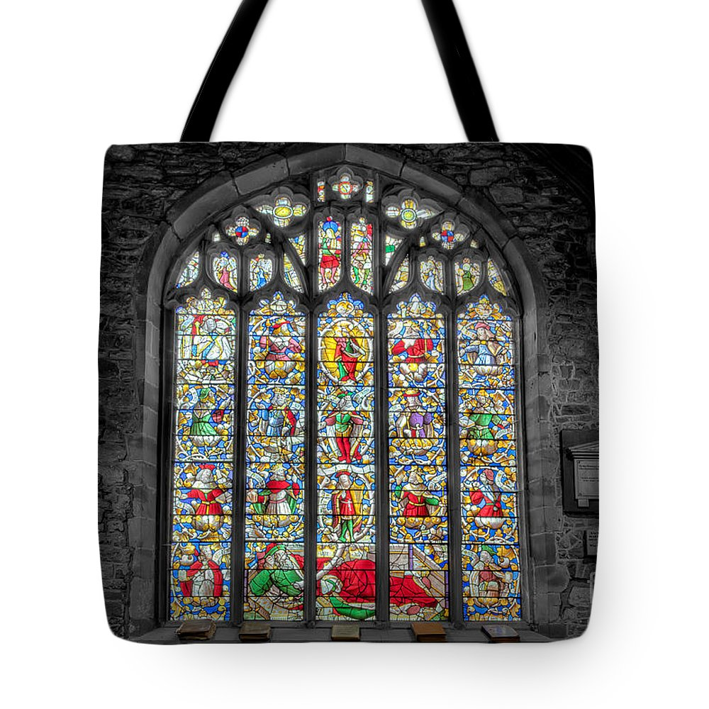 Architecture Tote Bag featuring the photograph The Jesse Window by Adrian Evans