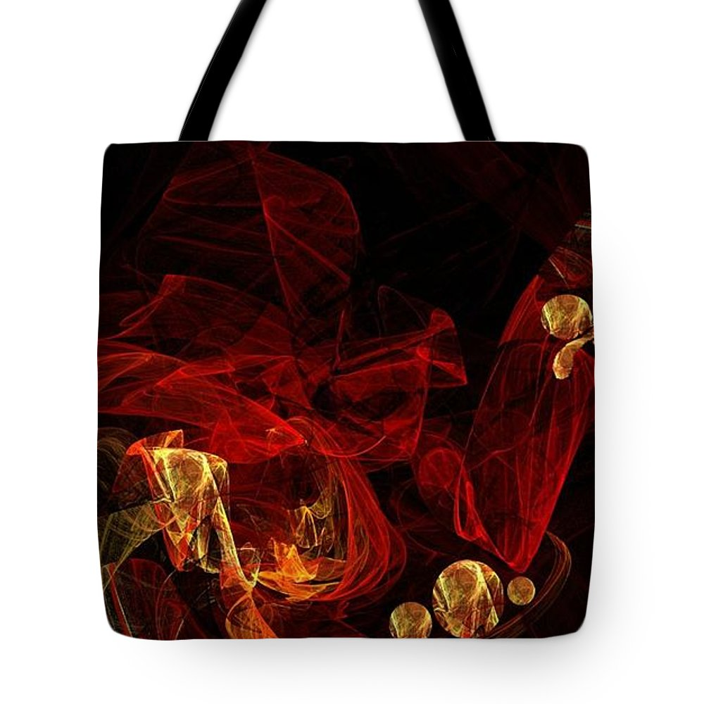 The Journey Tote Bag featuring the digital art The Journey Ahead by Kelly Turner