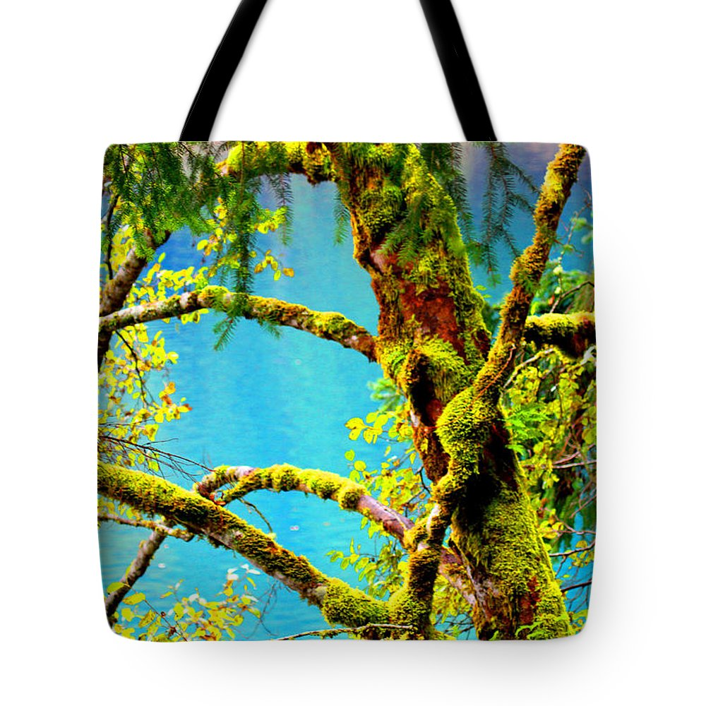 Lake Tote Bag featuring the photograph The Lake by Marie Jamieson
