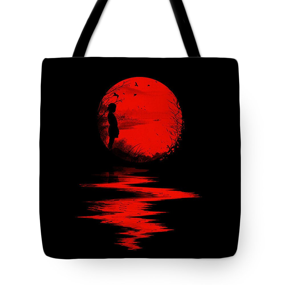 Art Tote Bag featuring the digital art The Land of the Rising Sun by Nicebleed