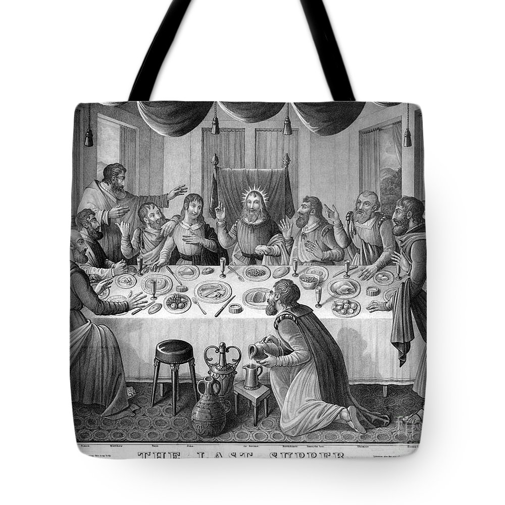 1835 Tote Bag featuring the photograph The Last Supper by Granger