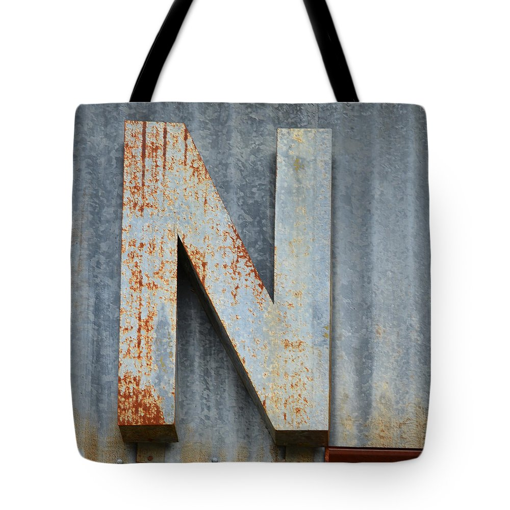 Letter Tote Bag featuring the photograph The Letter N by Nikki Marie Smith