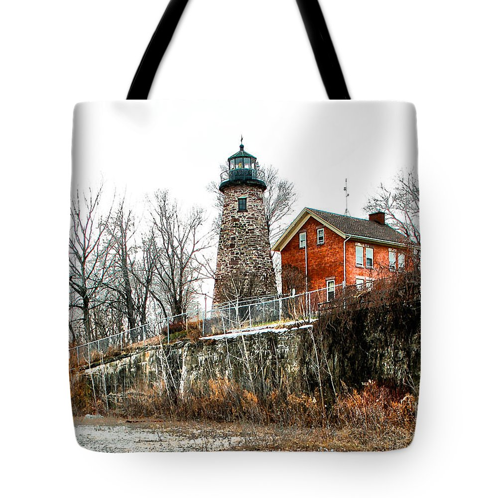 Lighthouse Tote Bag featuring the photograph The Lighthouse by Ken Marsh