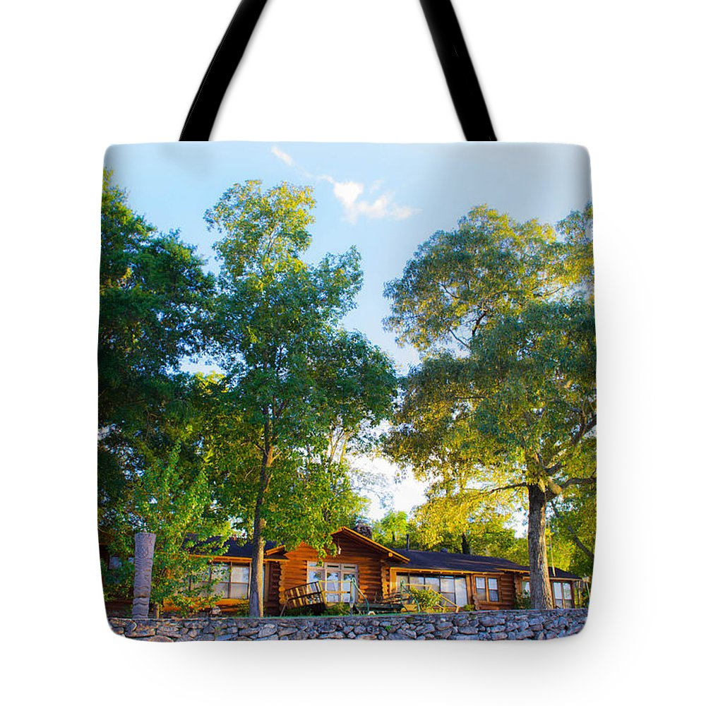 Tote Bag featuring the photograph The Log Cabin by Shannon Harrington
