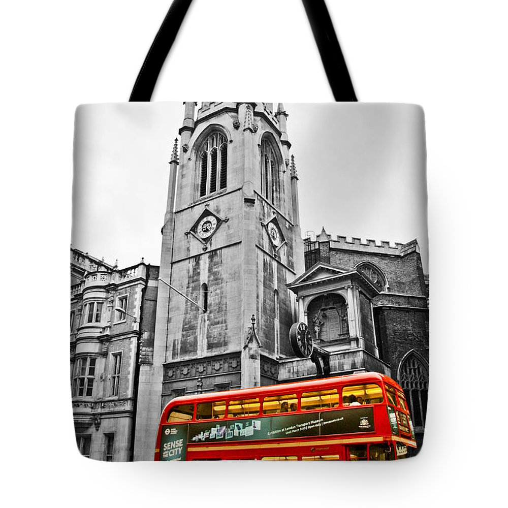 Bus Tote Bag featuring the photograph The London Bus by Dawn OConnor
