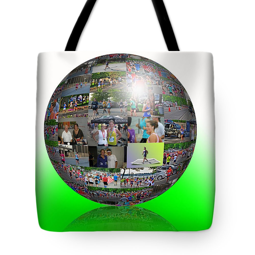 Tote Bag featuring the photograph The Love Of Running by Michael Frank Jr