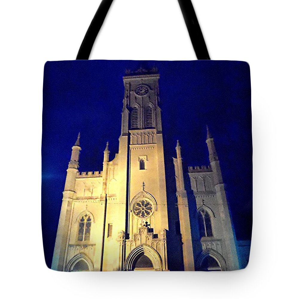 Church Tote Bag featuring the digital art The Majesty by Barkley Simpson