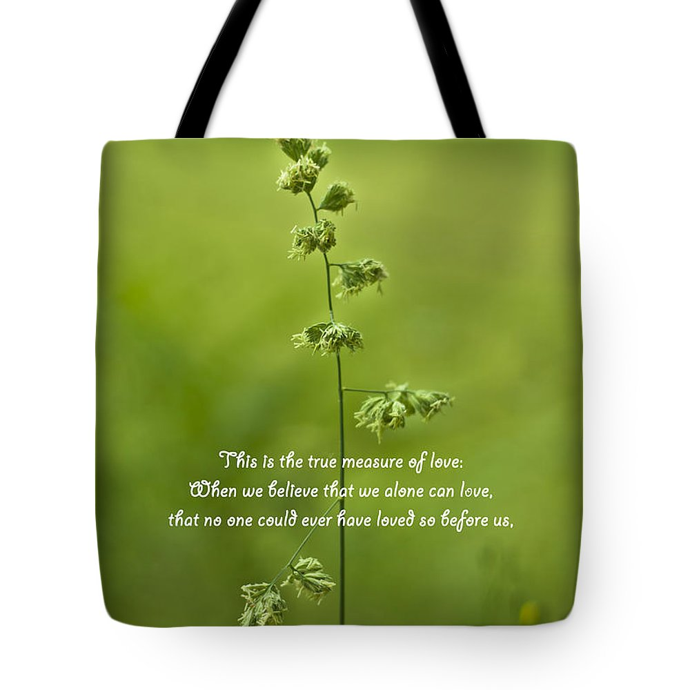 True Measure Of Love Tote Bag featuring the photograph The Measure Of Love by Georgia Fowler