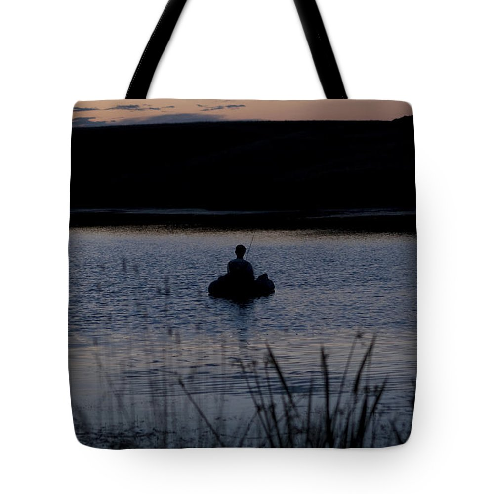 Fish Tote Bag featuring the photograph The Night Fisherman Floats by Lorraine Devon Wilke