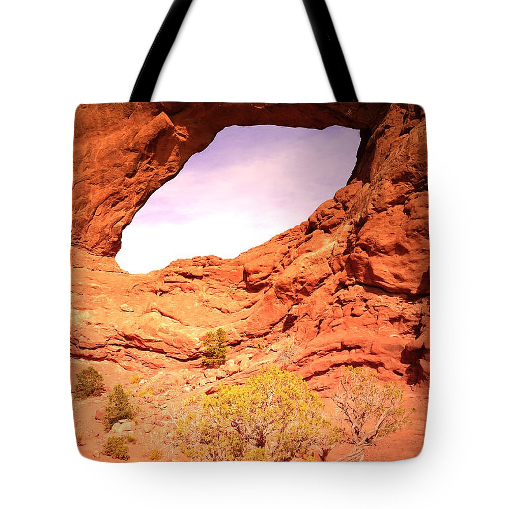 Utah Tote Bag featuring the photograph The North Window by Tara Turner