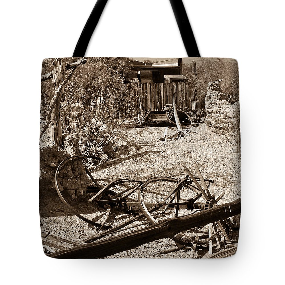 Bygone Tote Bag featuring the photograph The Old Bygone West by Douglas Barnett