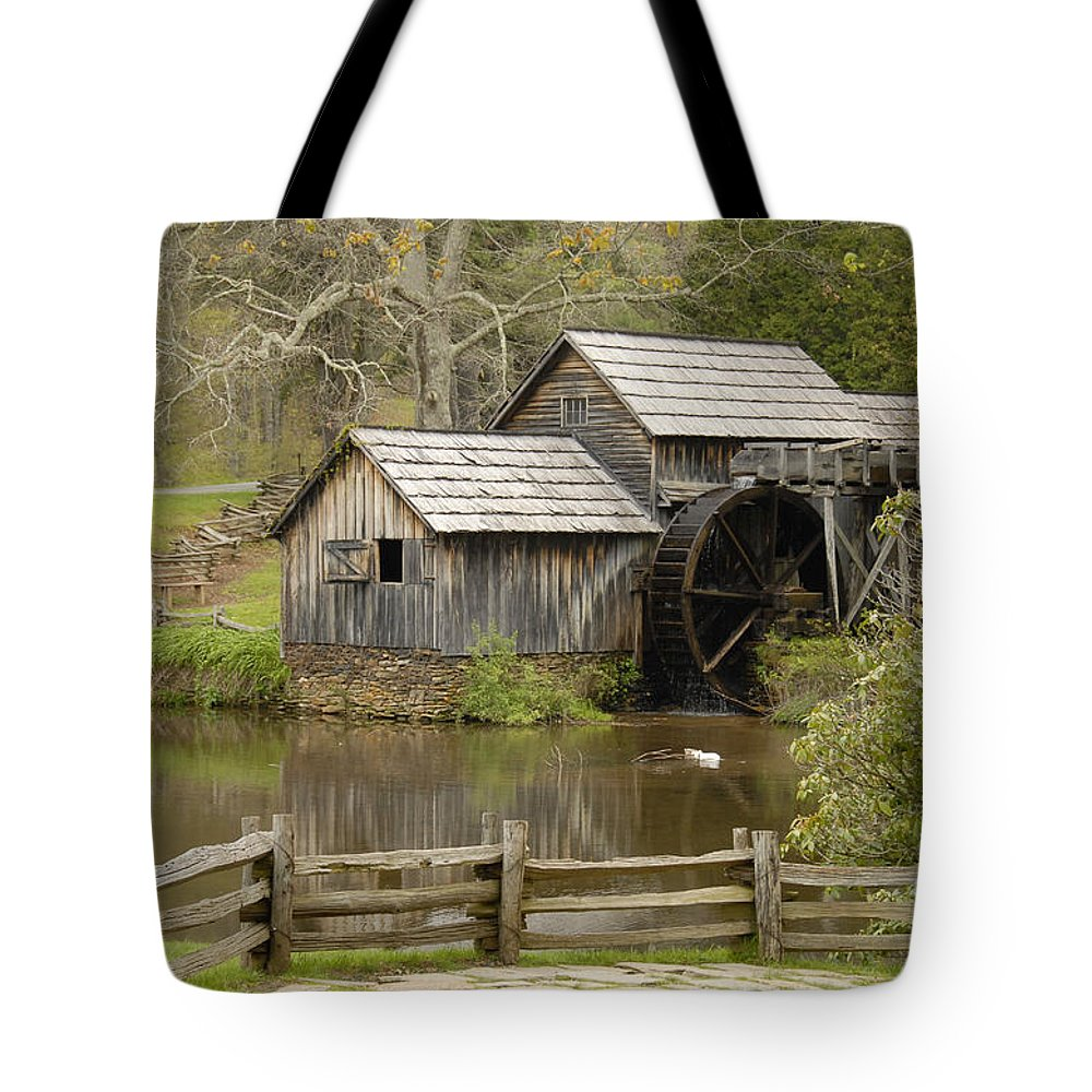 History Tote Bag featuring the photograph The Old Grist Mill by Cindy Manero