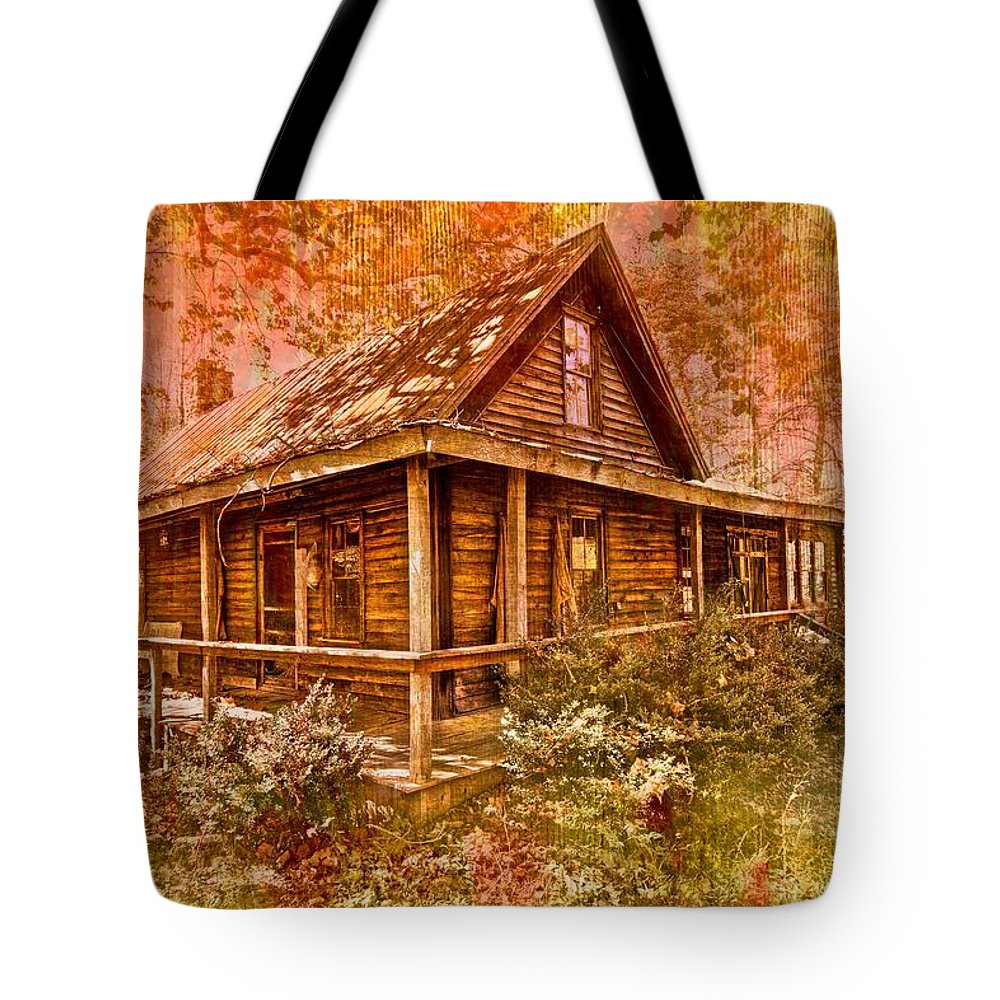 Appalachia Tote Bag featuring the photograph The Old Homestead by Debra and Dave Vanderlaan