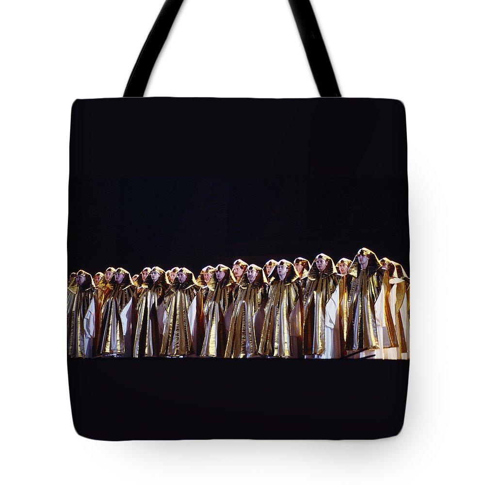 Verdi Tote Bag featuring the photograph Verdi's Opera Aida by Shaun Higson