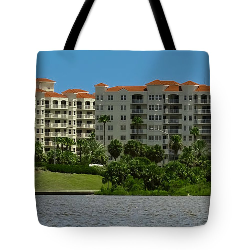 Hotel Tote Bag featuring the photograph The Ormond Hotel by DigiArt Diaries by Vicky B Fuller