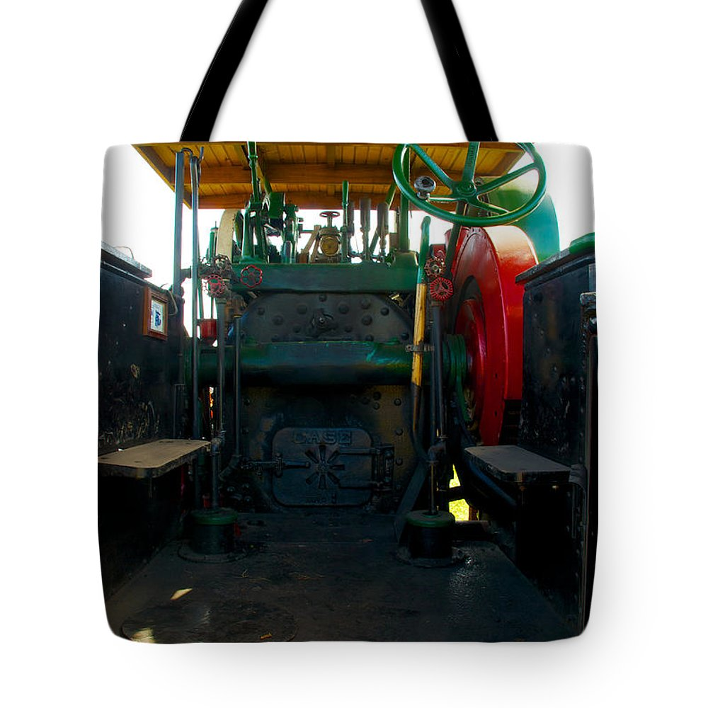 Arcadia Volunteer Fire Company Tote Bag featuring the photograph The Peerless Controll Booth by Mark Dodd
