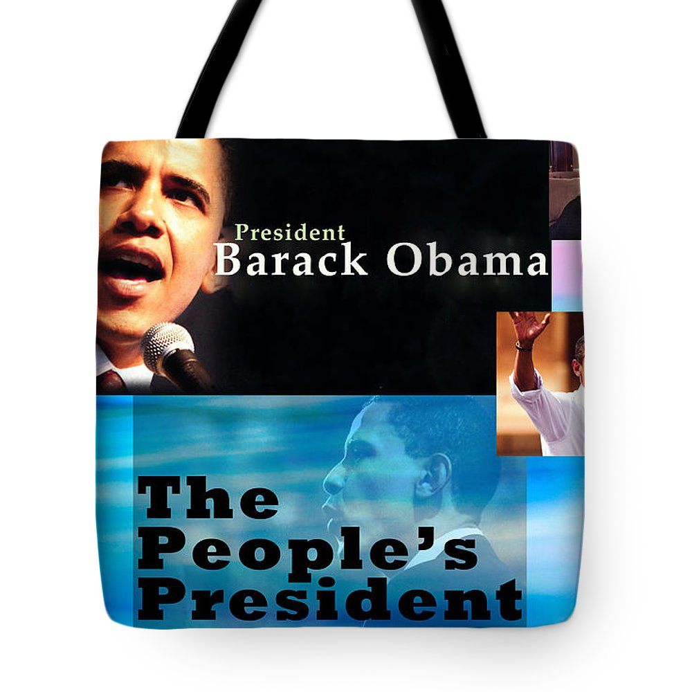 President Tote Bag featuring the photograph The People's President by Terry Wallace