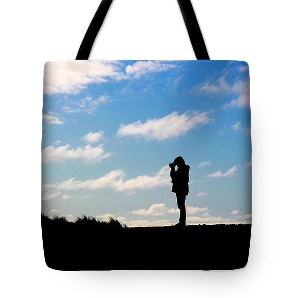 Taking Pictures Tote Bag featuring the photograph The Photographer by Steve McKinzie