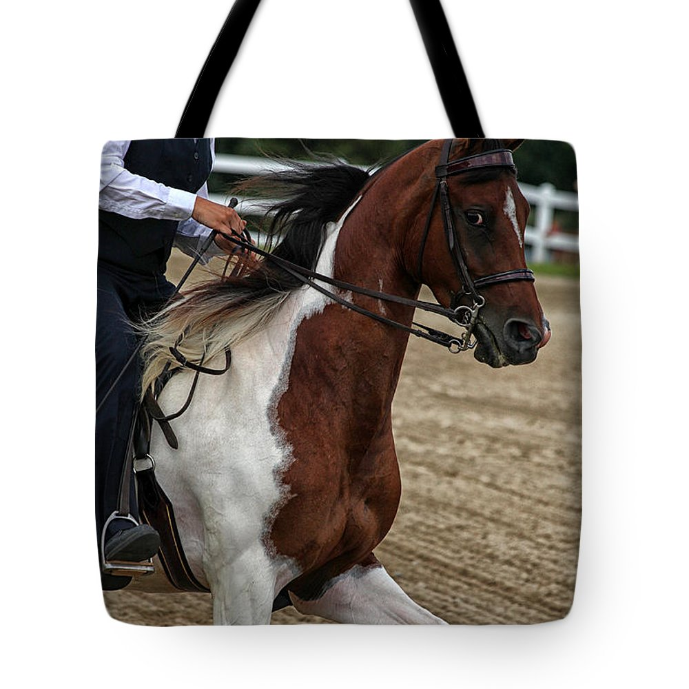 Horse Tote Bag featuring the photograph The Prance by Karol Livote