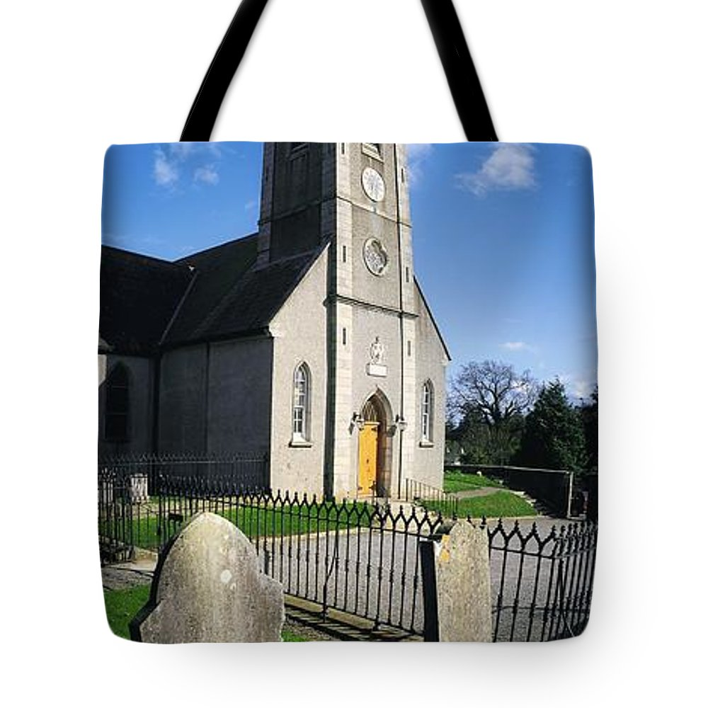Blue Sky Tote Bag featuring the photograph The Protestant Church, Delgany, Co by The Irish Image Collection