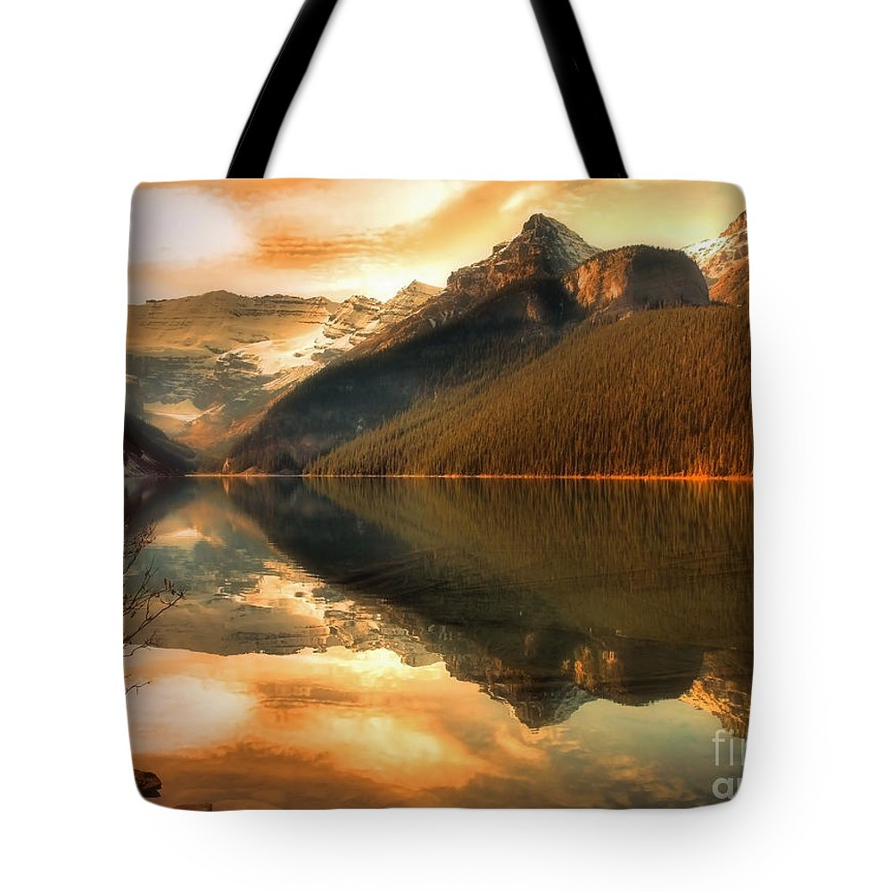 Nature Tote Bag featuring the photograph The Quiet Golden Glow by Tara Turner