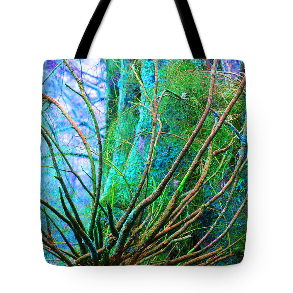 Trees Tote Bag featuring the photograph The Reach by Marie Jamieson