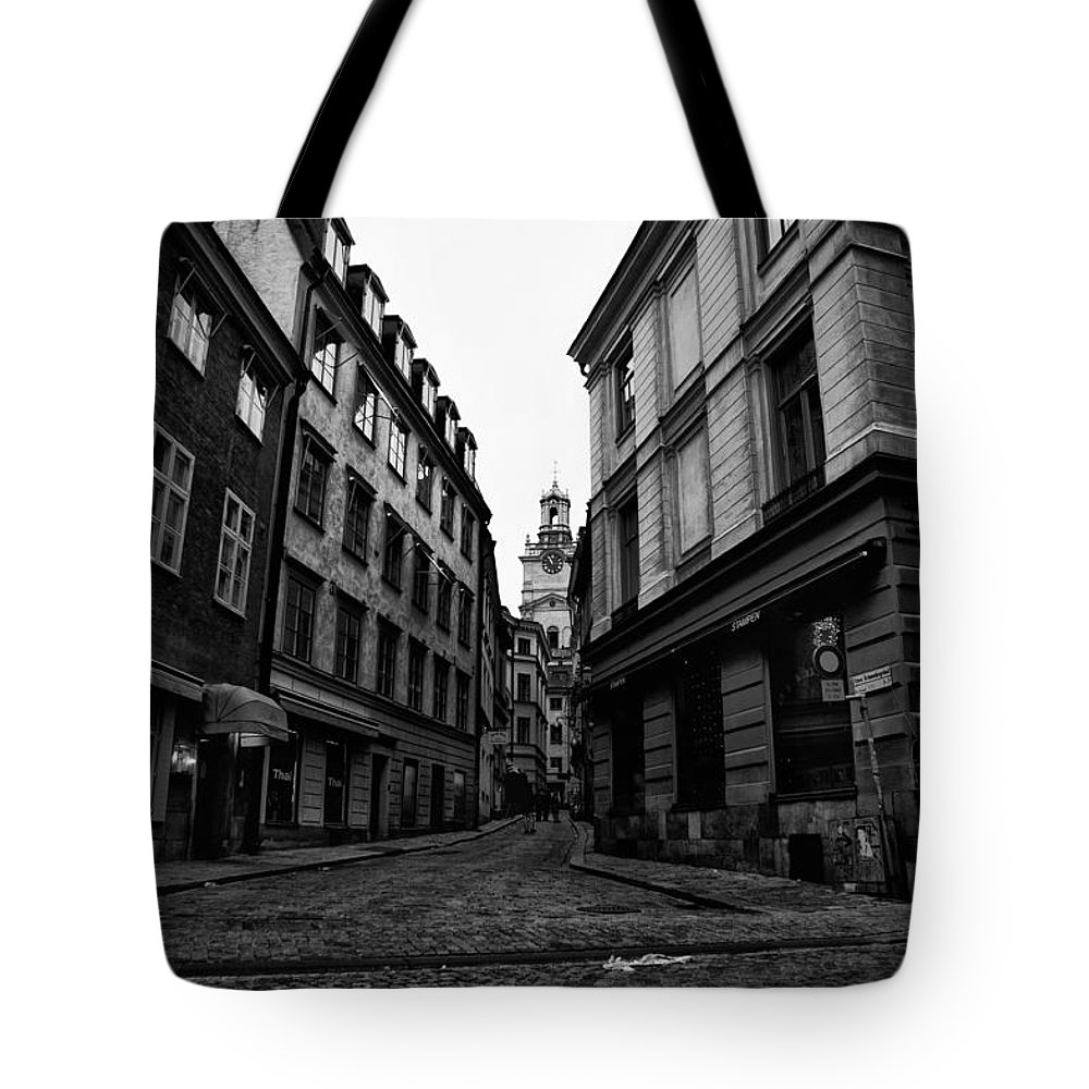 Ancient Tote Bag featuring the photograph The Right Way Stockholm by Stelios Kleanthous