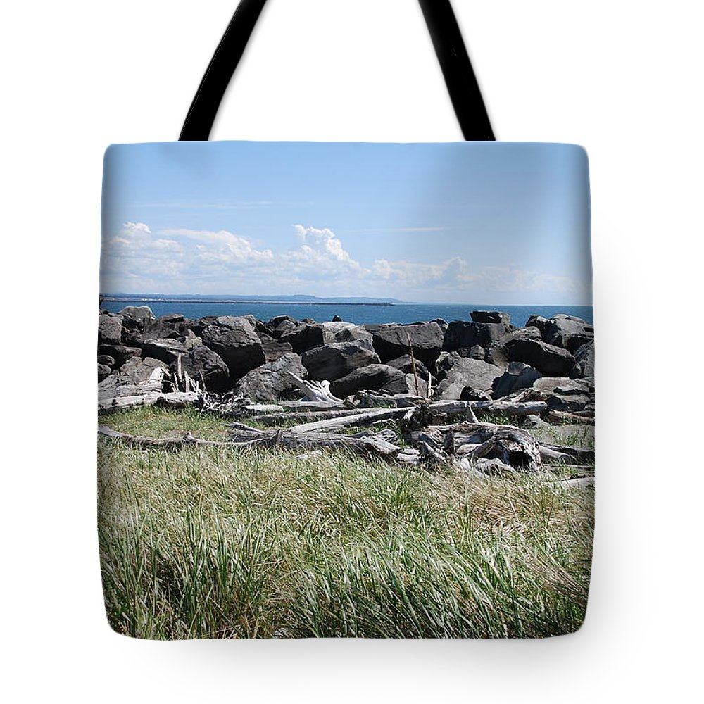 Ocean Tote Bag featuring the photograph The Rugged Coast by Michael Merry